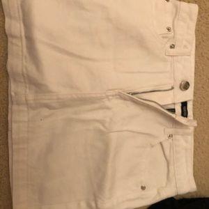 forever 21 white denim skirt never worn